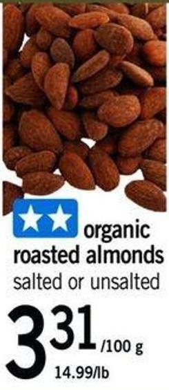 Organic Roasted Almonds