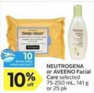 Neutrogena or Aveeno Facial Care - 10 Air Miles Bonus Miles