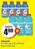 Gatorade 6 X 591 mL or 8 X 355 mL