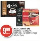Mccafé - Tim Hortons Tassimo (14's) or Keurig Compatible (12's) Coffee PODS