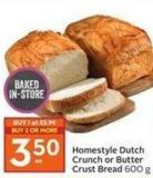 Homestyle Dutch Crunch or Butter Crust Bread