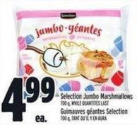 Selection Jumbo Marshmallows 700 g