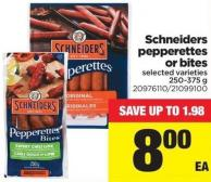 Schneiders Pepperettes Or Bites - 250/375 g