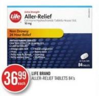 Life Brand Aller-relief Tablets 84's
