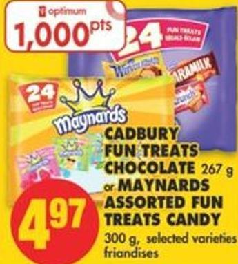 Cadbury Fun Treats Chocolate - 267 g or Maynards Assorted Fun Treats Candy - 300 g