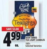 Aish Tamid Tea Light Candles