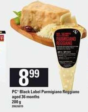 PC Black Label Parmigiano Reggiano - Aged 36 Months - 200 g
