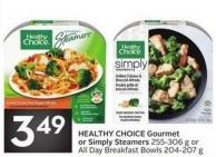 Healthy Choice Gourmet or Simply Steamers