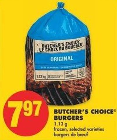 Butcher's Choice Burgers - 1.13 G
