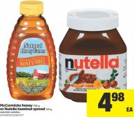 Mccormicks Honey - 750 g Or Nutella Hazelnut Spread - 725 g