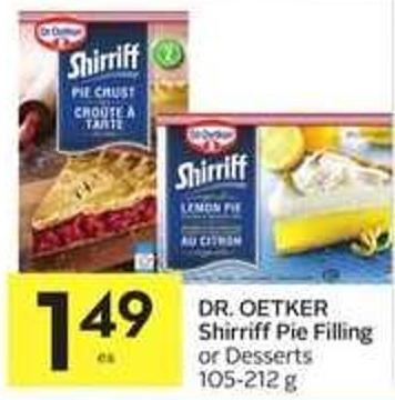 Dr. Oetker Shirriff Pie Filling