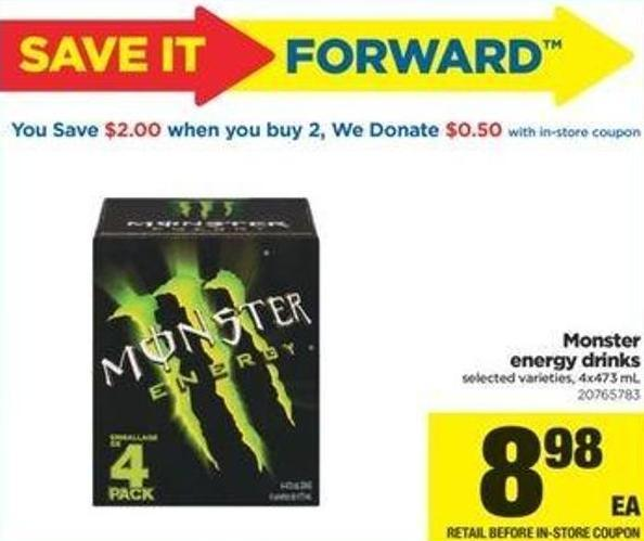 Monster Energy Drinks - 4x473 Ml