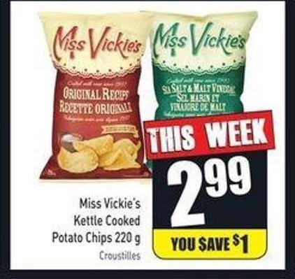 Miss Vickie's Kettle Cooked Potato Chips 220 g