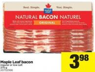Maple Leaf Bacon - 375 g