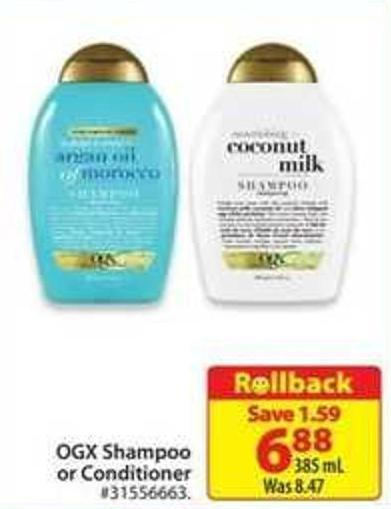 Ogx Shampoo or Conditioner