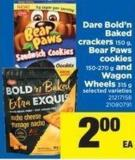 Dare Bold'n Baked Crackers 150 G - Bear Paws Cookies 150-270 G And Wagon Wheels 315 G