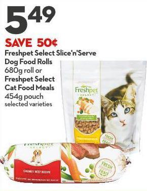 Freshpet Select Slice'n'serve Dog Food Rolls 680g Roll or Freshpet Select Cat Food Meals 454g Pouch