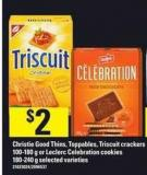 Christie Good Thins - Toppables - Triscuit Crackers - 100-180 G Or Leclerc Celebration Cookies - 180-240 G