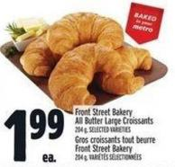 Front Street Bakery All Butter Large Croissants 204 g