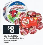 Mini Babybel 240 g or The Laughing Cow 400 g