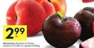 Nectarines - Peaches or Plums Product of Chile No 1 Grade
