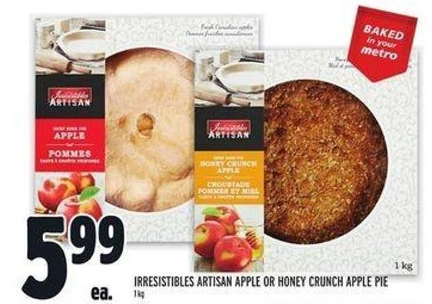 Irresistibles Artisan Apple or Honey Crunch Apple Pie