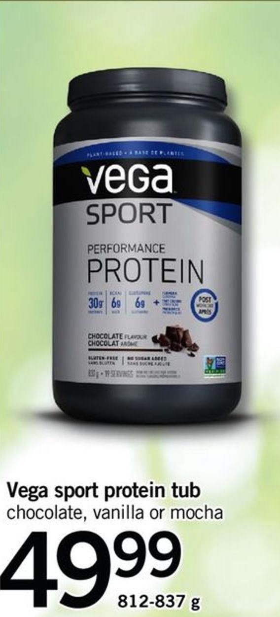 Vega Sport Protein Tub Chocolate - Vanilla Or Mocha
