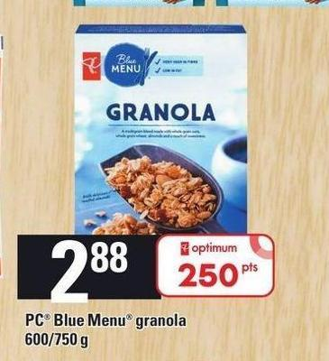 PC Blue Menu Granola 600/750 G