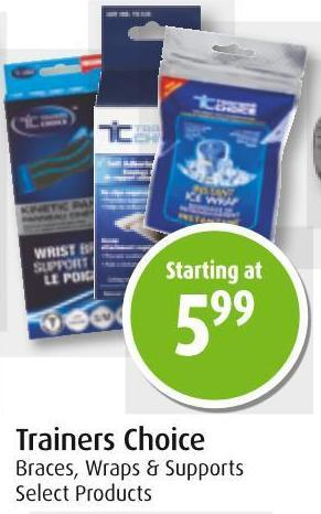 Trainers Choice Braces - Wraps & Supports