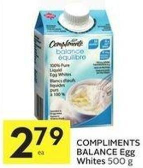 Compliments Balance Egg Whites 500 g