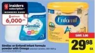 Similac Or Enfamil Infant Formula Powder With Omega - 550-663 g