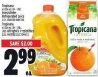 Tropicana 6 X 236 Ml - 1.54 - 1.75 L Irresistibles Refrigerated Juice 2.5 L