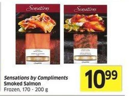 Sensations By Compliments Smoked Salmon Frozen -