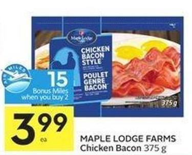 Maple Lodge Farms Chicken Bacon 375 g - 15 Air Miles Bonus Miles