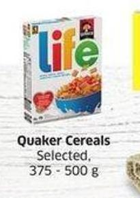 Quaker Cereals Selected -