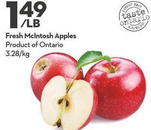 Fresh Mcintosh Apples