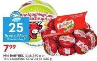 Mini Babybel 12 Pk 240 g or The Laughing Cow 24 Pk 400 g - 25 Air Miles Bonus Miles