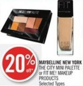 Maybelline New York The City Mini Palette or Fit Me! Makeup Products