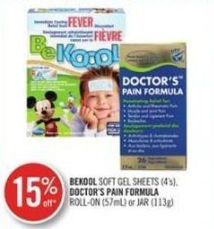 Bekool Soft Gel Sheets (4's) - Doctor's Pain Formula Roll-on (57ml) or Jar (113g)