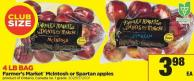 Farmer's Market Mcintosh Or Spartan Apples - 4 Lb Bag