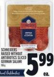 Schneiders Raised Without Antibiotics Sliced German Salami 150 g