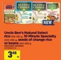 Uncle Ben's Natural Select Rice - 365-397 G - 10 Minute Specialty - 400-460 G - Seeds Of Change Rice Or Beans - 240-250 G