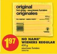 No Name Wieners Regular - 450 g