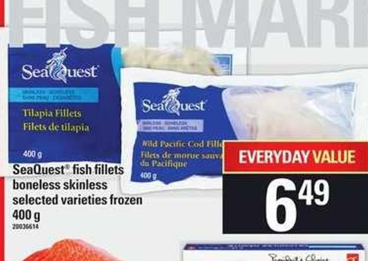 Seaquest Fish Fillets Boneless Skinless - 400 g