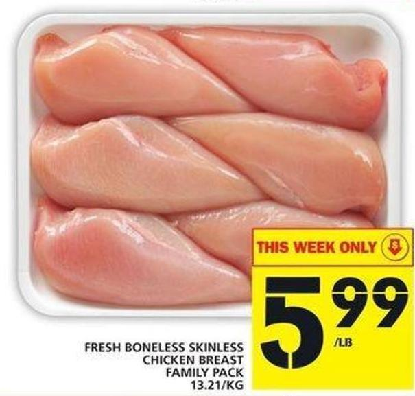 Fresh Boneless Skinless Chicken Breast