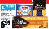 Black Diamond Cheese Bars 400 - 500 G Or Shredded Cheese 320 - 340 G