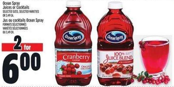 Ocean Spray Juices Or Cocktails