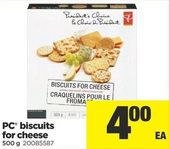 PC Biscuits For Cheese - 500 g