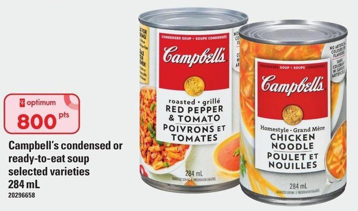 Campbell's Condensed Or Ready-to-eat Soup - 284 mL