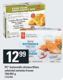 PC Buttermilk Chicken Fillets - 750/907 g